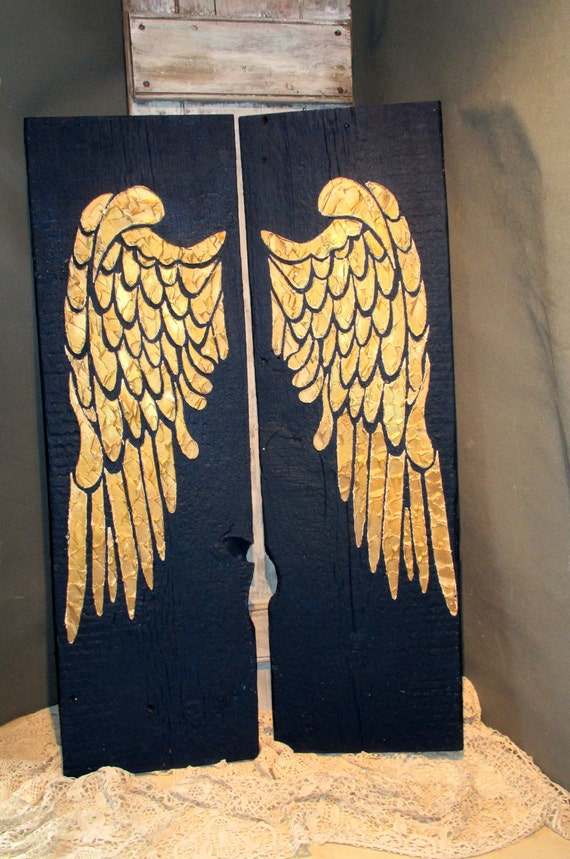 angel wing wall decor wings large angel wings angel wings distressed angel wings wall hanging home decor painted sea