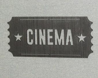 Large Cinema Ticket Wall Art Movie Sign Art Decor