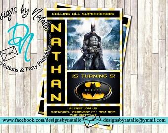 Batman Invitation | Superhero Invitation