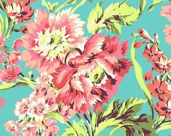 Amy Butler - Free Spirit - Love - Bliss Bouquet - Aqua - AB50.AQUA - BY 1 YARD