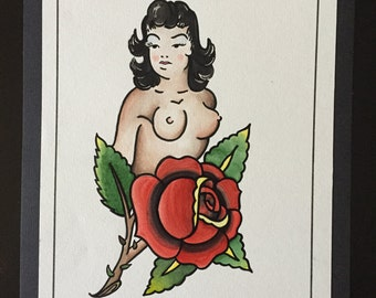 Sailor Jerry inspired Tattoo Flash