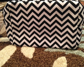 Chevron Microfiber Cosmetic Bag