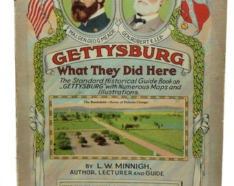 Gettysburg What They Did Here Historical Guide Book Minnigh 1954