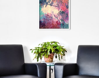 Abstract Landscape GICLEE PRINT of original Digital Collage 'Fractals'