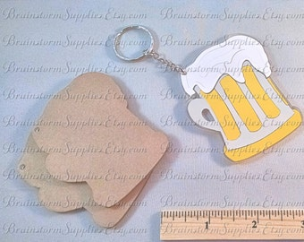 Acrylic Blanks - Blanks for Vinyl - Mug Key Chain Blanks - 5 Clear Acrylic Blanks for Key Chains - Acrylic Shapes For Vinyl - AC-KC04
