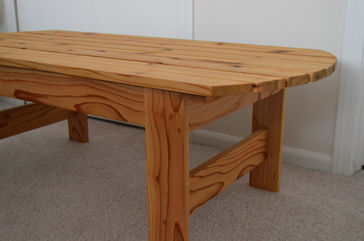 Cedar Adirondack Coffee Table Patio Table By InkedWoodworking
