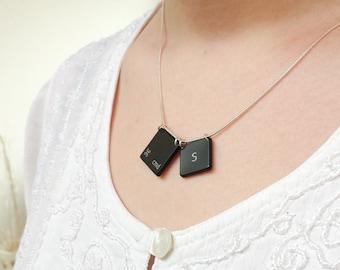 Cmd-S Mac Keys Necklace. Perfect Geek Gift!