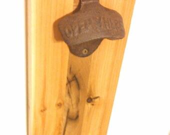Magnet Bottle Opener- Reclaimed Poplar & Cedar- Man Cave/Groomsmen Gift/ Home Bar