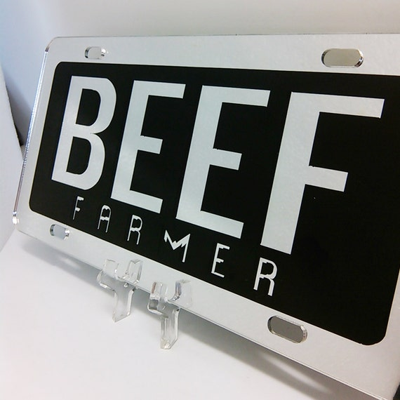 Beef License Plates Beef Farmer For Trucks Cars
