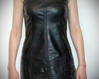 Rag Doll - leather dress (Free shipping)