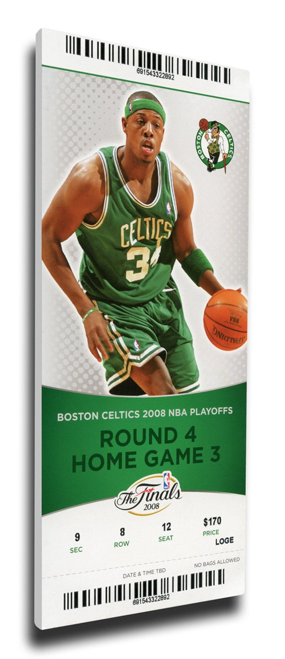 2008 nba finals canvas mega ticket game 6 pierce boston celtics