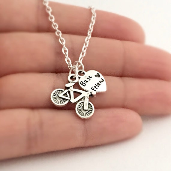 best friend bicycle necklace sports jewelry by luckyucharms