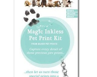 Dog paw print keepsake - Inkless Pet Print Kit - Paw print kit - dog print tattoo kit - Pet print kit - cat print kit - actual paw print