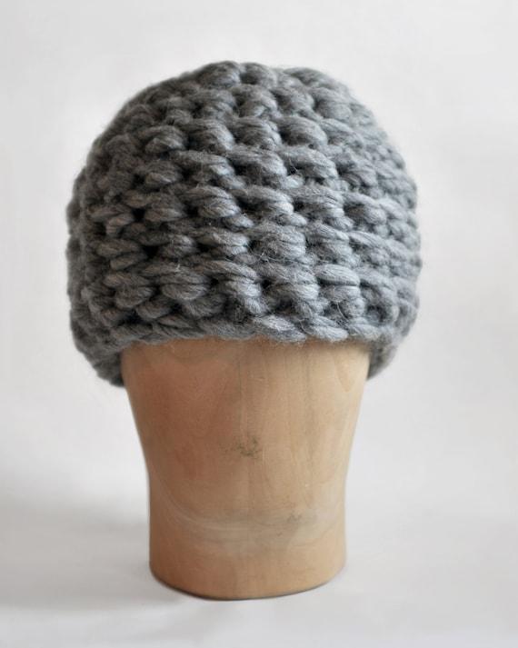 Mens Hat Crochet Pattern Chunky Yarn : Bulky Crochet Hat handknit hat soft high quality wool knit