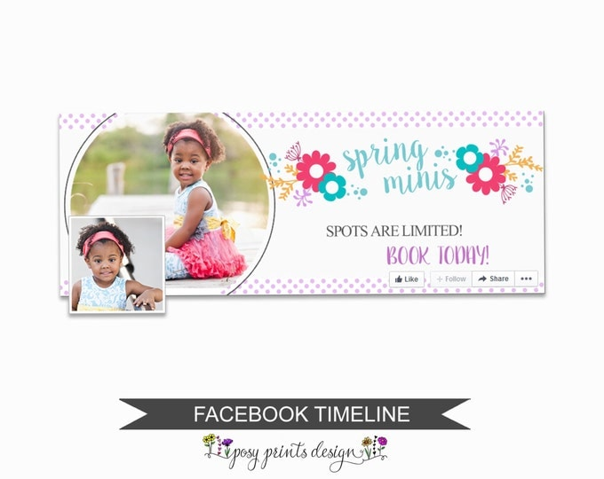 Facebook Timeline Cover Photoshop Template - FBT04