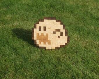 Super Mario Ghost Pixel Wall Art