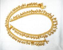 Anklets | gold anklets | bell anklet Bracelet | Indian Anklets | indian jewelry | foot jewelry | tribal bell anklets | gypsy anklets