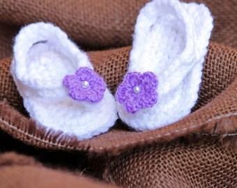 Crochet Baby Sandal-Flower Toe