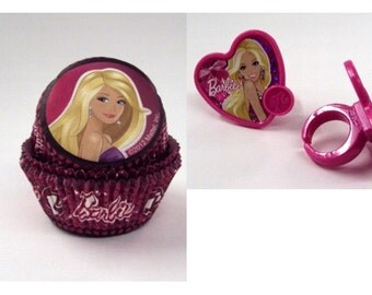 Barbie Rings with Barbie Baking Cups