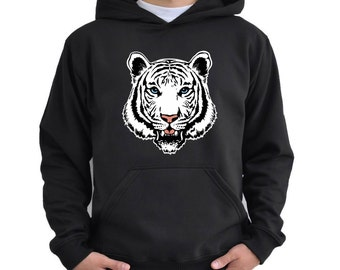 White bengal tiger face Hoodie