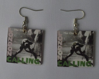 Earrings with The Clash (London Calling) Logo
