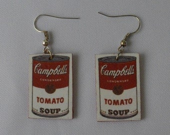Tomato Soup Andy Warhol Earrings