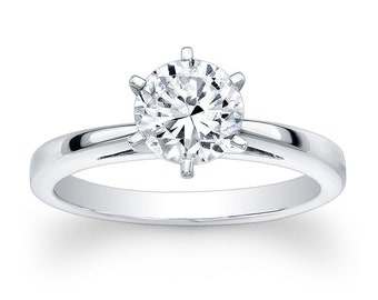 6-Prong Cathedral Solitaire Semi Mount Engagement Ring (No Center)