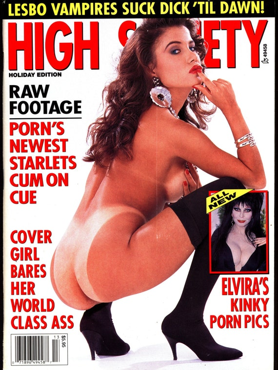 ... ELVIRA Cassandra Peterson Nude Pin Ups Holiday Mature Adult Magazine: https://www.etsy.com/listing/240225445/nsfw-high-society-v-17-13...