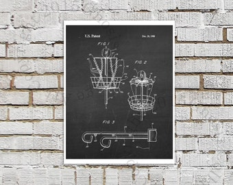 Frisbee Golf Disc Golf Poster print #8 black and White Wall Art, chalkboard Art Print, Disc Golf Wall Art, Outdoor Game Decor, Dorm Decor