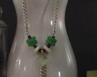Green Beach Glass Necklace...originally 27.00