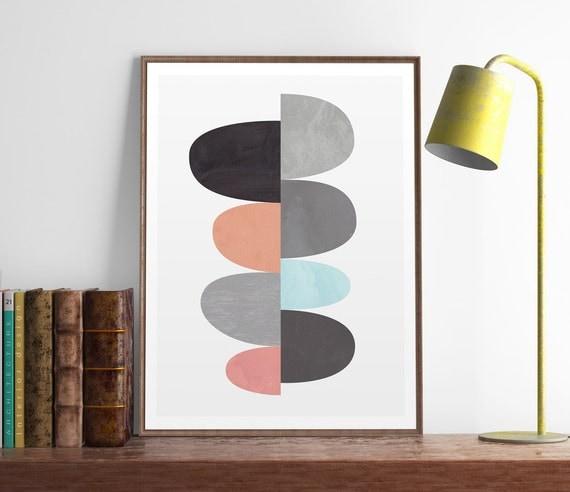 wall prints mid century modern geometric art by. Black Bedroom Furniture Sets. Home Design Ideas