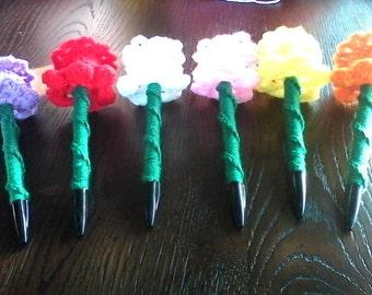 Crochet Daffodil Pens