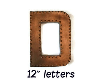 Faux Metal Letter, Wall Letter Decor, Marquee Letter, Rustic Letter, Industrial Letter, Black Letters, Nursery Wall Letters, Rusted Letter