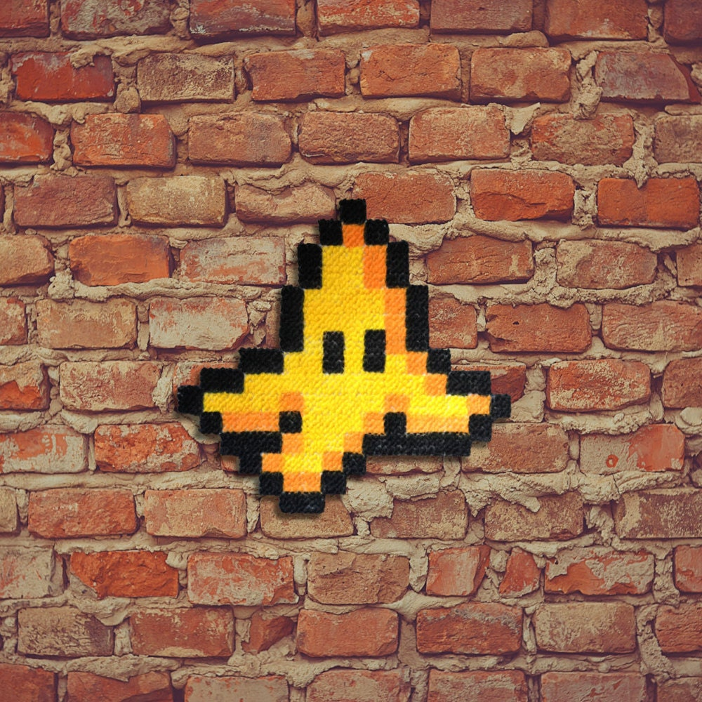 banana peel carpet pixel art hand painted. Black Bedroom Furniture Sets. Home Design Ideas