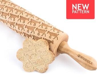 Ziege - geprägt, graviert Nudelholz für cookies
