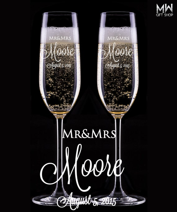 custom wedding champagne glasses engraved champagne flutes toasting