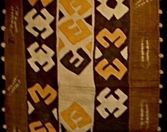 SALE# Kuba Cloth Ceremonial Skirt/Panel Raffia Applique Textile Currency African *10