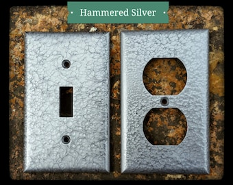Hammered Silver Wall Plates (Switch/Outlet Covers)