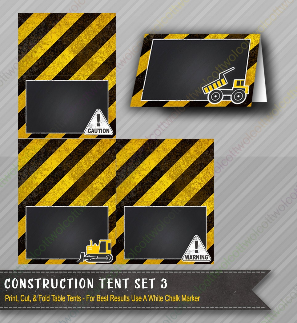 Construction Birthday Party Food Ideas: Construction Birthday Party Tents Chalkboard Food Tents