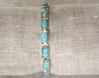 Larimar 925 Silver bracelet