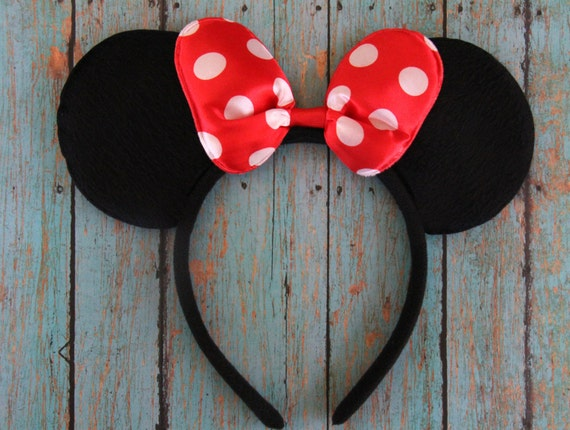 minnie mouse ohren minnie mouse stirnband minnie mouse von. Black Bedroom Furniture Sets. Home Design Ideas