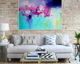 Abstract Floral, Original Abstract Painting, Abstract Canvas Painting, Abstract Wall art, Modern Art, Contemporary art, Large Wall Art