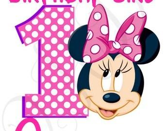 Minnie Mom of the Birthday Girl Polka Dot Iron On - Digital - You Print