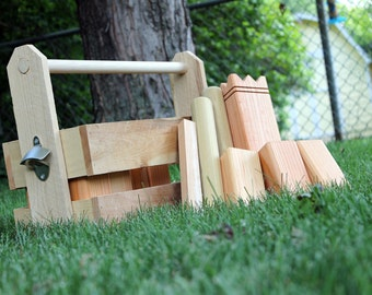 Kubb Set with Cedar Crate