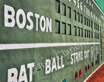 Fenway Park Famous Green Monster Red Sox Scoreboard - FREE SHIPPING!