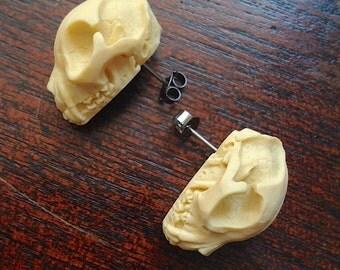 Cat Skull Earrings