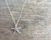 Silver Starfish Necklace - Silver Necklace -Beachy Necklace- Starfish Necklace - Beach Inspired Necklace - Simple Necklace