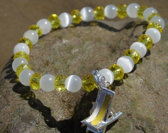 Oh I do like to be beside the seaside.... Deckchair bracelet