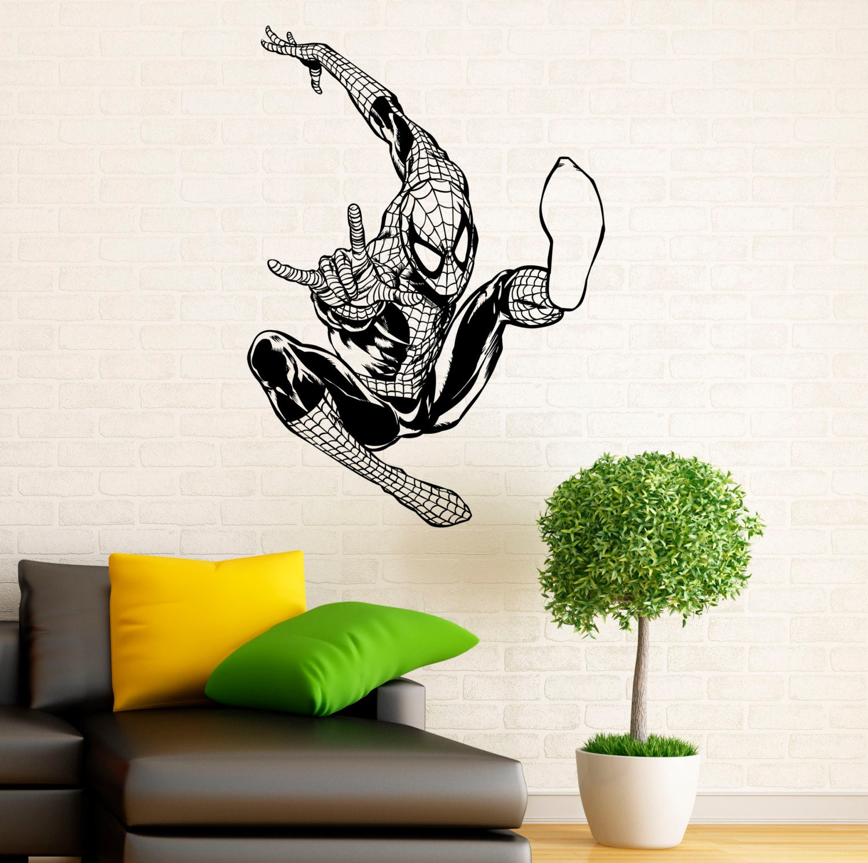 spiderman vinyl wall decal color the walls of your house spiderman vinyl wall decal spiderman wall decal vinyl stickers comics superhero interior