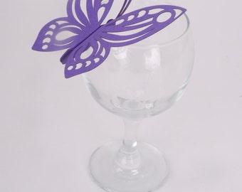 10 x Butterfly Clip-on Glass Table Decorations